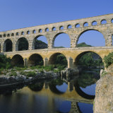 The Pont Du Gard  Roman Aqueduct  Gard Near Nimes  Languedoc  France  Europe