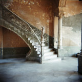 Ornate Marble Staircase in Apartment Building  Havana  Cuba  West Indies  Central America