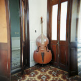 Double Bass Propped Against a Wall  Cienfuegos  Cuba  West Indies  Central America