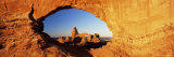 Turret Arch Through North Window at Sunrise  Arches National Park  Moab  Utah  USA