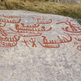 Ancient Rock Carvings from Pre-Viking Times  Ostfold Near Halden  Norway  Scandinavia  Europe