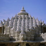 Close up of the Main Dome of the Jain Temple  1437 AD  Ranakpur  Rajasthan State  India  Asia