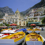 Boats and Waterfront  Positano  Costiera Amalfitana (Amalfi Coast)  Campania  Italy