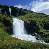 Waterfalls Near Seydisfjordur  East Iceland  Polar Regions