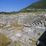 Amphitheatre at Sanctuary of Zeus  Mavromati Ithomi  Peloponese  Greece  Europe