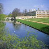 The Backs  River Cam  Clare College  Cambridge  Cambridgeshire  England  UK