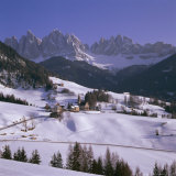 Val De Funes  St Magdalena and Geisler Mountains  South Tirol  Trentino-Alto Adige  Italy