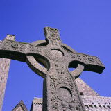 Replica of St John's Cross  Abbey  Island of Iona  Scotland  UK  Europe