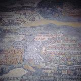 Madaba Mosaic Map, 6th Century AD, Detail Showing Jerusalem, Madaba, Jordan, Middle East Papier Photo par Christopher Rennie