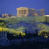 The Parthenon and Acropolis  Unesco World Heritage Site  Athens  Greece  Europe