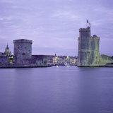 Harbour Entrance with Tour De La Chaine on Left and Tour St Nicolas on Right  La Rochelle  France