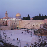 Western (Wailing) Wall and Golden Dome of the Dome of the Rock  Jerusalem  Israel  Middle East