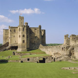 Warkworth Castle Dating from Medieval Times  Northumberland  England  UK