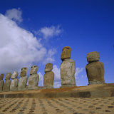 Ahu Tongariki  Easter Island  Chile  Pacific
