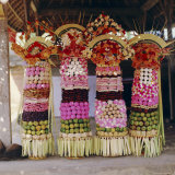 Offerings  Temple Festival Near Mengwi  Bali  Indonesia  Asia
