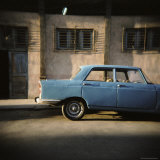 Old Blue Soviet Car  Havana  Cuba  West Indies  Central America