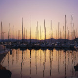 Sunset Over the Marina  St Tropez  Cote d'Azur  Var  Provence  France  Europe