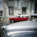Old American Cars Operating as Private Taxis  Havana  Cuba  West Indies  Central America
