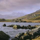 The Snowdon Range from Capel Curig  Snowdonia National Park  Gwynedd  North Wales  UK  Europe
