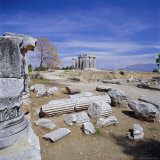 Temple of Apollo  Corinth (Korinthos)  Greece  Europe