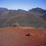 Haleakala Crater and Subsidiary Cones  Haleakala National Park  Maui  Hawaiian Islands  USA