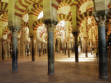 Arches in the Interior of the Great Mosque  Cordoba  Unesco World Heritage Site  Andalucia  Spain