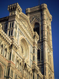 Exterior of the Christian Cathedral  the Duomo  S Maria Del Fiore  Tuscany  Italy