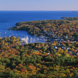 Camden Harbour  Camden Hills State Park  Maine  New England  USA