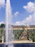 Fountain  Schloss Sanssouci (Sanssouci Palace)  Unesco World Heritage Site  Potsdam  Germany