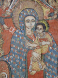 Mural of Jesus and Mary  Gondar  Ethiopia