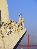 Henry the Navigator on the Prow of the Padrao Dos Descobrimentos  Lisbon  Portugal