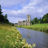 Fountains Abbey  North Yorkshire  England  UK  Europe