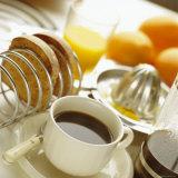 Breakfast, Coffee, Toast, Fresh Orange Juice Papier Photo par John Miller