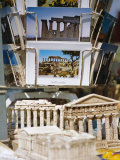 Souvenirs Including Models of Temples and Postcards for Sale  Italy  Mediterranean