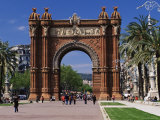 Arc De Triomf by the Modernist  Josep Vilaseca I Casanoves  Barcelona  Catalonia  Spain