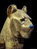 Head of a Funerary Couch in the Form of a Cheetah or Lion  Thebes  Egypt