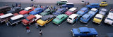 Aerial View of Taxi Stand  Capitol Square  Havana  Cuba  West Indies  Central America