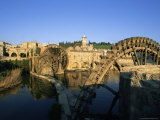 Al Jaabariys  Norias (Nourias) (Water Wheels)  and the Al Nour Mosque  Hama  Syria