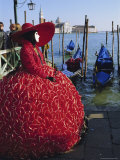Person Wearing Masked Carnival Costume  Veneto  Italy