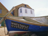 Fishing Boat on the Beach  England  UK Whitstable is Popular for It's Oyster and Fish Restaurants