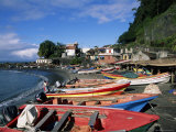 Grand Riviere Fishing Village  Island of Martinique  Lesser Antilles  French West Indies  Caribbean