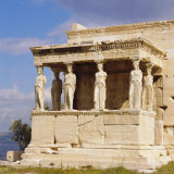 Porch of the Caryatids with Figures of the Six Maidens  Erechtheion  Acropolis  Athens  Greece