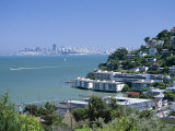 Sausalito  a Town on San Francisco Bay in Marin County  California  USA