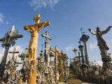 Hill of Crosses (Kryziu Kalnas)  Thousands of Memorial Crosses  Lithuania  Baltic States