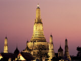 Buddhist Temple of Wat Arun at Twilight  Dating from 19th Century  Bankok Noi  Bangkok  Thailand
