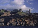 Rocks  Puamau Bay  Ua Pou Island  Marquesas Islands Archipelago  French Polynesia