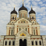 The 19th Century Russian Orthodox Alexander Nevsky Cathedral on Toompea  Old Town Tallinn  Estonia