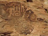 Petroglyphs Drawn in Sandstone by Anasazi Indians Around 500Ad  Valley of Fire State Park  Nevada