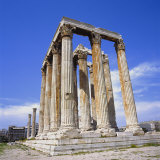 Temple of Olympian Zeus  Athens  Greece  Europe