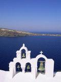 Bell Tower on Christian Church  Oia (Ia)  Santorini (Thira)  Aegean Sea  Greece